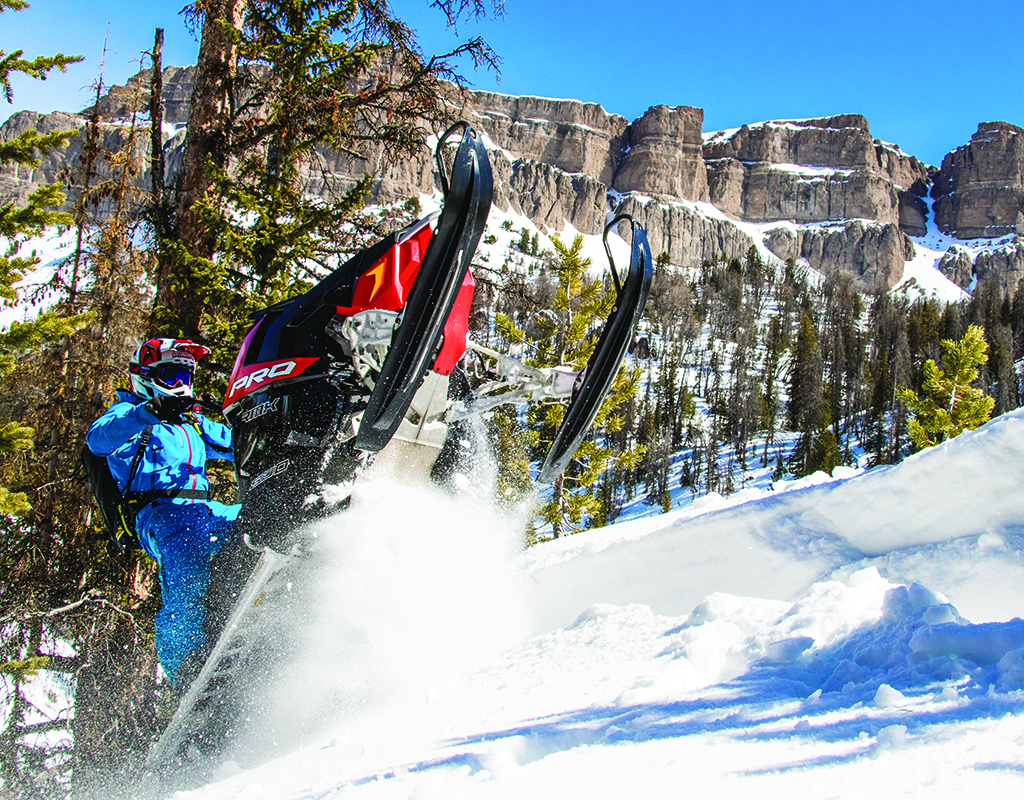 Among snowmobilers across the country, Togwotee Pass is known as one of the sport's top destinations. Photograph by Levi Tormanen