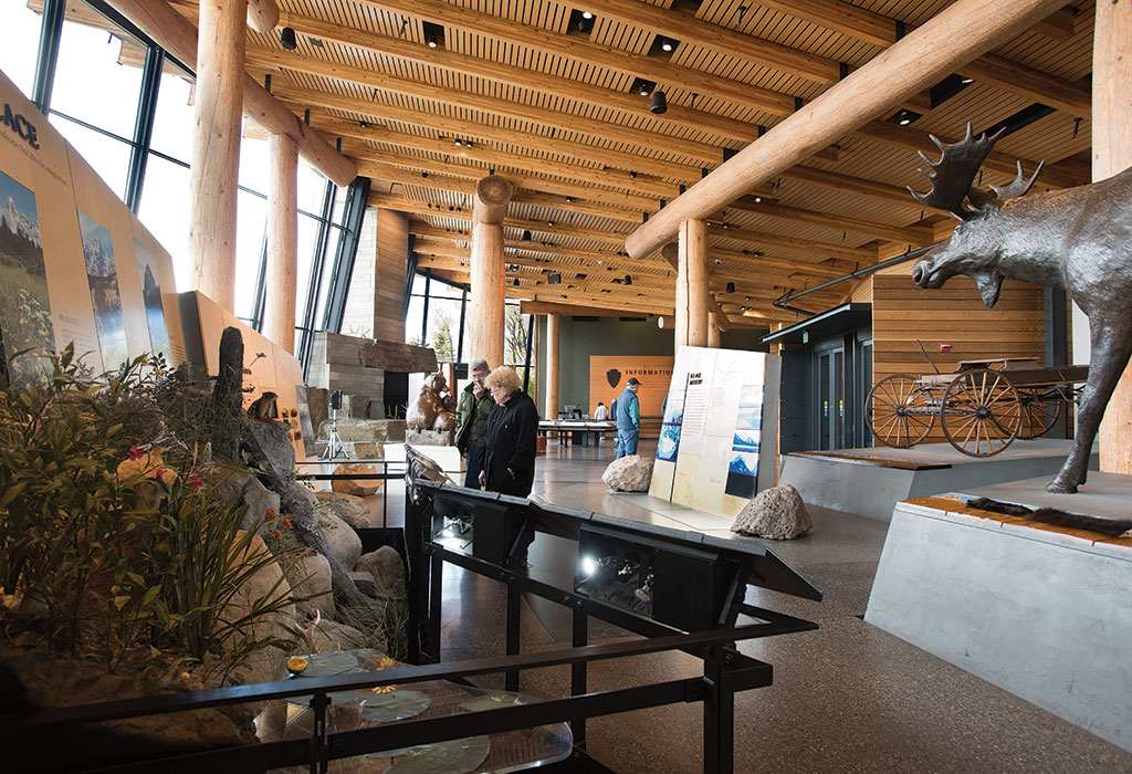 In 2007 the $24.8 million Craig Thomas Discovery and Visitor Center opened. Like the current Jenny Lake restoration project, it was funded with a combination of public and private dollars. Photograph by Bradly J. Boner