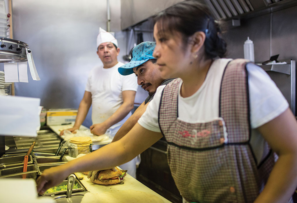 Maria Carlos opened Taqueria Sanchez twelve years ago and is still in the kitchen most days.