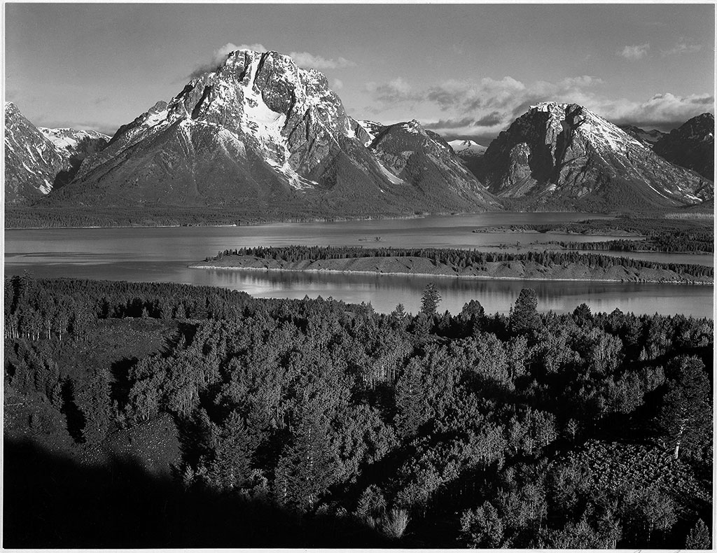 View across the Snake River Valley toward Mount Moran, Grand Teton National Park