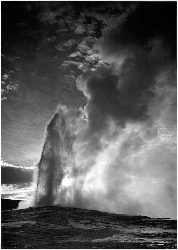 Eruption of Old Faithful Geyser, Yellowstone National Park