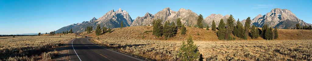 GTNP's Inner Park Loop Road winds past the park's main peaks.
