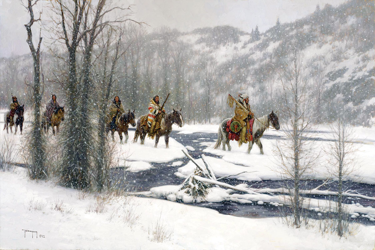 Trailside Galleries was the first art gallery to open in Jackson Hole. It still specializes in western and wildlife art, including the works of painter Robert Duncan, whose Winter's Arrival is shown above.