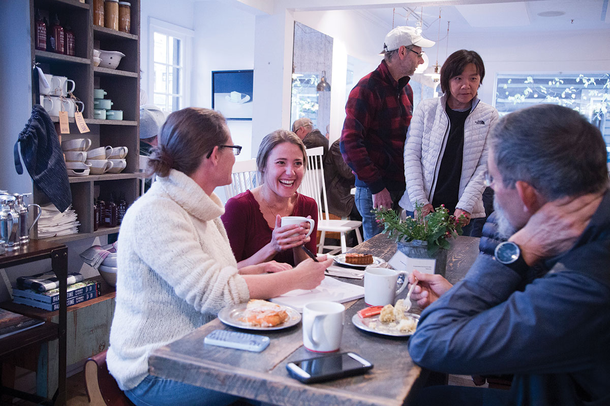 Persephone Bakery is a favorite with local skiers and riders because its breakfast sandwich can keep you going all day long. It's a nice spot for an afternoon snack, too.