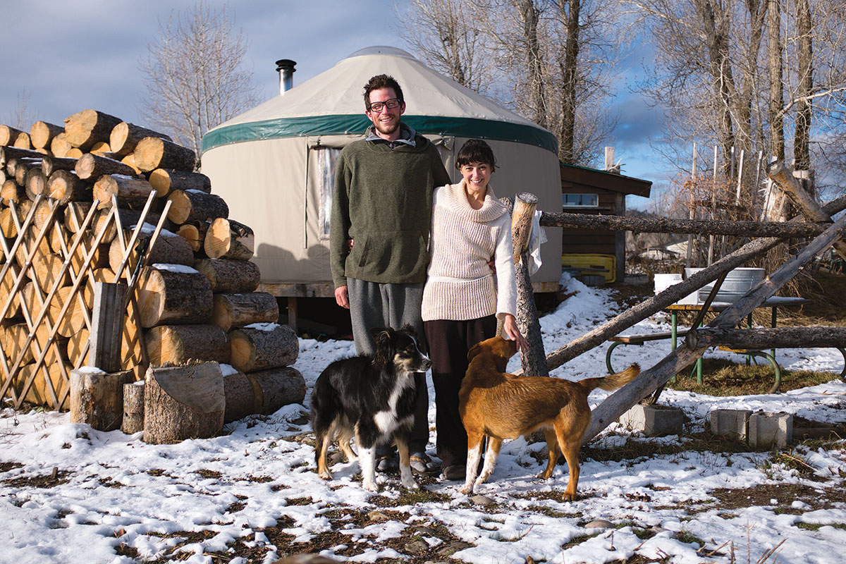 Now thirty-one, Owen Popinchalk grew up spending summers at the Kelly Yurt Park. Today, he lives there full-time with girlfriend Joana Lau.