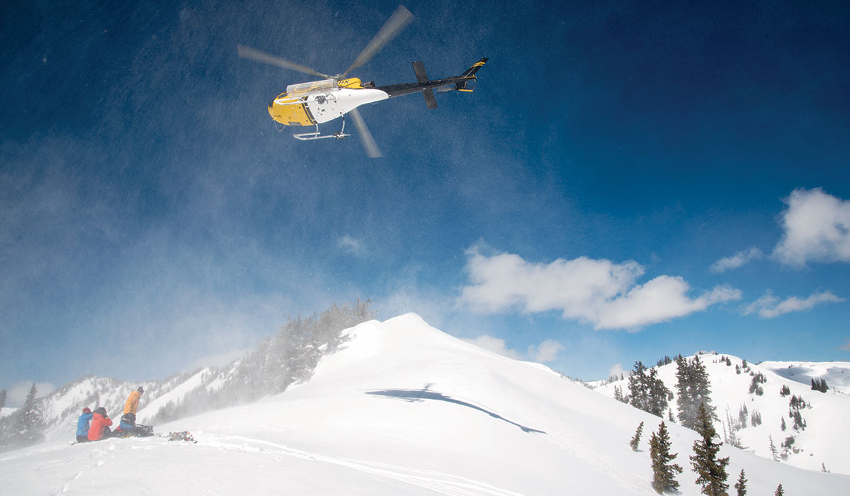 High Mountain Heli-Skiing can take skiers and snowboarders to parts of five different mountain ranges. They almost always find untracked slopes.