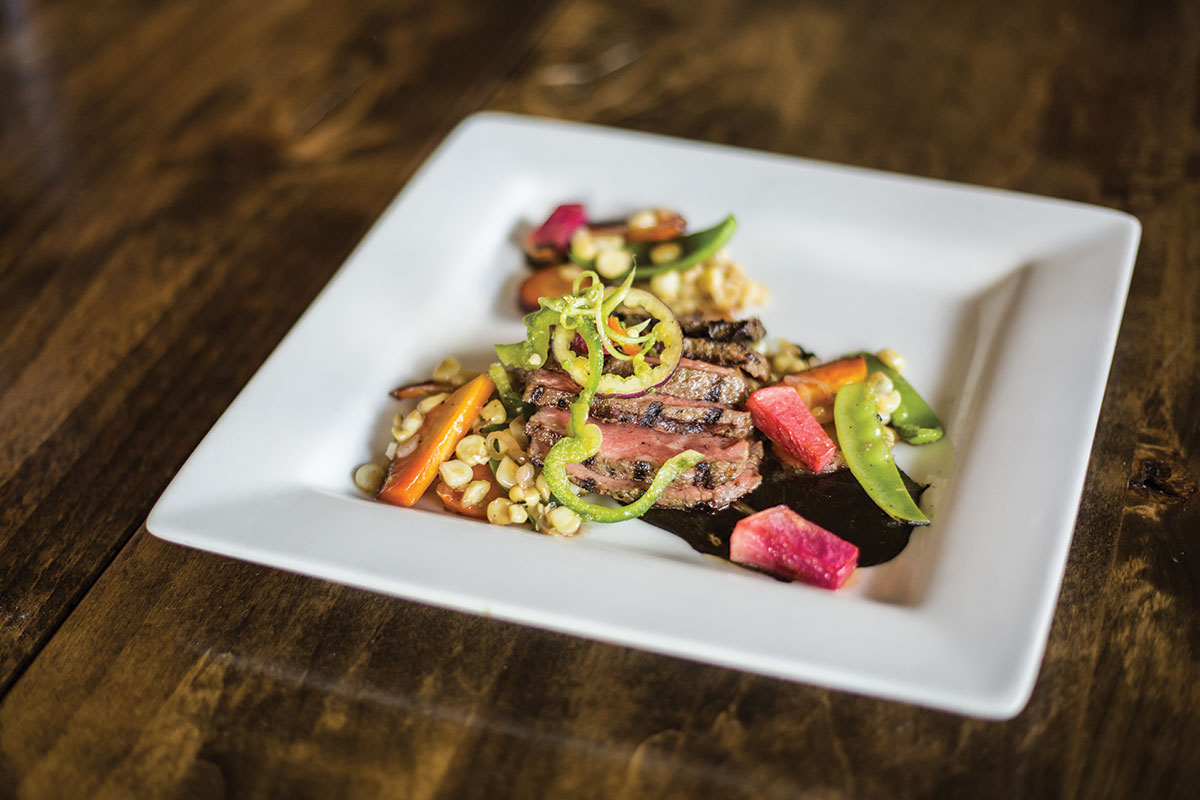 Executive chef Myers' Tippets Ranch New York strip was the winner at a tasting last fall.